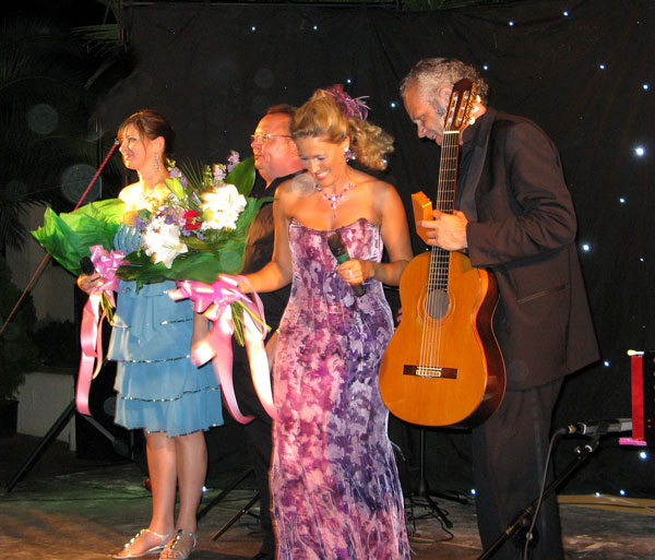 Performing with Robin Hill