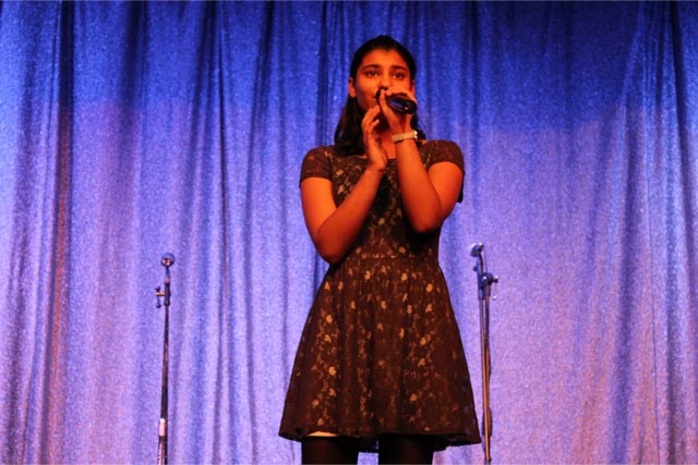Krisha singing Ave Maria (Beyonce)